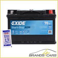 EXIDE EK700 70AH 760A START-STOP AGM STARTERBATTERIE INKL. POL-FETT 32685985