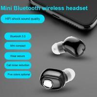 Wireless BT5 0 Headphone In Ear Stereo Headset Sport Mini Earphone Earbud V6F7