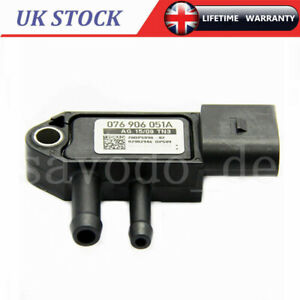 DPF Diesel Particulate Filter Differential Pressure Sensor For VW Audi Seat New