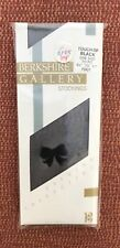 "Vintage Berkshire Gallery ""Touch of Black"" Stockings, Heel Motif, One Size BNWT"