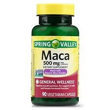 New Spring Valley Maca Capsules 500 Mg 90 Ct