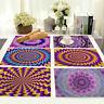 Kitchen Dining Insulation Pattern Cotton Linen Mat Home Placemat Table Mandala