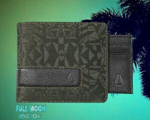 New Nixon Showtime Palm Mens Bi-Fold Zip Wallet