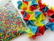 12 Multi Stars & 20g Multi Sprinkles edible sugar cupcake topper decorations
