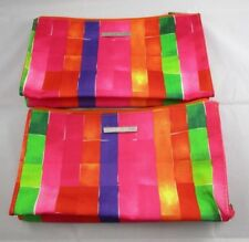 "Pair of CLINIQUE Cosmetic / Make-Up / Organizer Zip up Bags NEW Colors 6"" x 10"""