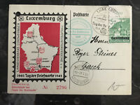1941 Luxembourg Occupation Cover Stamp Day Postcard