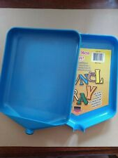 """New listing vintage LOT 2 bead small item sorting trays blue plastic funnel appx 6"""" square"""