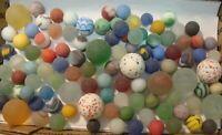 100 Vintage Glass Sea Style Beach Marbles Cats Eye Gem Swirls Speckled Sweet  #5
