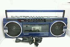 Vintage Sharp QT27 Radio Boombox Blue Radio Works!