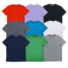 Tommy Hilfiger футболка мужская экипажа шеи футболка классический крой коротким рукавом рубашка топ новый