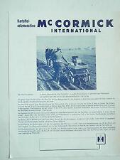 Prospectus Tracteur Mac CORMICK  IH Planteuse Kartoffel brochure tractor traktor