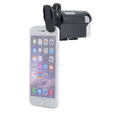LED 60X-100X Magnifier Currency Detection Jewelry Loupe Clip-on Microscope SM
