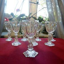 8 verres à liqueur ou a porto en cristal de val saint Lambert modèle lalaing  ??