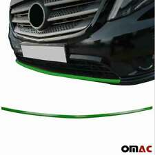 Fits Mercedes Metris 2016-2020 Green Chrome Front Lip Diffuser Streamer Steel