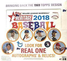 2018 Heritage Baseball 24 Pack Box FACTORY SEALED