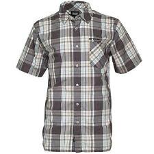 Animal S Mens Stalk Green & Grey Check SS Shirt BNWT Brand New Small Regular Fit