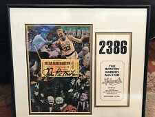 Autographed Leland's Boston Garden Auction Program & Ticket From The Last Night