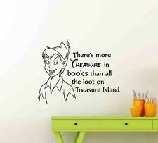 Peter Pan Wall Decal Theres More Treasure Disney Quote Vinyl Sticker Decor 114ct