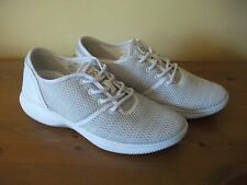 Ladies TBS Grey LIGHTWEIGHT TEXTILE Lace Up Casual SHOE Size UK 4 EUR 37 New!