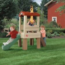 NEW Treehouse for Toddlers Kids Outdoor Playset Safe Climb Climber Toy W/ Slide