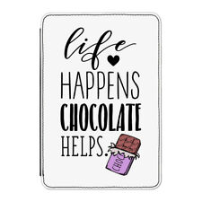 Life Happens Chocolate Helps Case Cover for Kindle Paperwhite - Funny