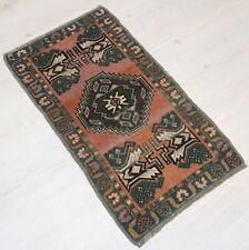 """Malatya Carpet Doormat, 19.7""""x34.6"""", Turkish Doormat, Handmade Vintage Doormat"""