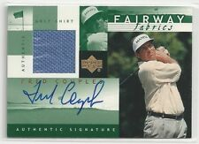 2002 UD Fred Couples Fairway Fabrics Green Autograph Shirt Hobby