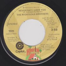 RIGHTEOUS BROTHERS {70s Blue-Eyed Soul} Never Say I Love You / High Blood ♫HEAR
