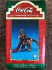 Coca-Cola Christmas Village Figurine Reindeer With Scarves Tablepiece 4inch Coke