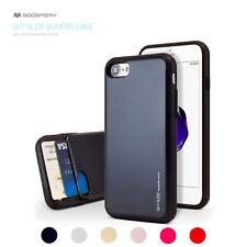 For iPhone X/8/7/6S/Plus Mercury Hybrid Bumper Card Slide Hard Rubber Case Cover