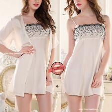 Faux Silk Patternless Short Everyday Nightwear for Women