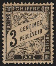 Timbres-Taxe Duval n°12, 3c noir, neuf ** sans charnière - TB