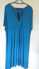 BNWT STUNNING LADIES BLUE KAFTAN STYLE DRESS BY ATMOSPHERE