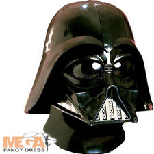 Darth Vader Mask Mens Fancy Dress Villain Star Wars Film Adults Costume Helmet