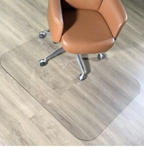 """Crystal Clear 1/5"""" Thick 47"""" x 35"""" Heavy Duty Hard Chair Floor Mat by MuArts"""