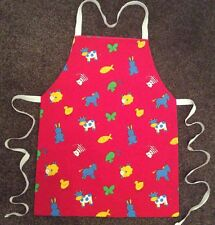 CHILD' S CRAFT/ COOKERY APRON - MACHINE WASHABLE LINED COTTON - ANIMALS