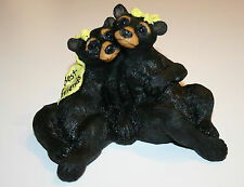 "Black Bear Figurine Best Friends Wildlife Animal Statue 4"" tall"