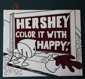 1960-70s Era Hershey,Pennsylvania Hershey's Chocolate Town coloring book-Kisses*