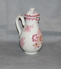 Chinese Export Porcelain Covered Milk Jug Puce Gilt Floral Sprays Antique