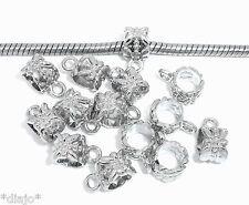 Dangel anhängeröse 10 unidades color Hell plata bricolaje cadenas remolque joyas #