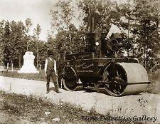 Steam Roller, Fort Oglethorpe, Catoosa Cnty, GA - c.1900 - Historic Photo Print