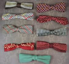 Vintage Lot of 9 Men's Silk and Cotton Bow Ties