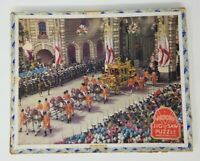 Vintage Plywood Jigsaw Puzzle Victory England Buckingham Soldiers G. J. Hayter