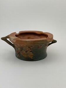 Vintage Orange & Green Roseville Art Pottery Bushberry Ashtray #26