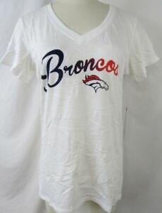 "Denver Broncos Women Medium Large X-Large Screened ""BRONCOS SCRIPT"" Tee ADEB 105"