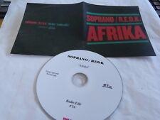 SOPRANO & R.E.D.K. - Afrika - CD 1 TITRE !!! PROMO !!!