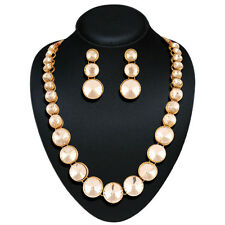 Indian Bollywood Bridal Gold White Polki Jewellery Necklace, Earring