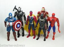 6 pcs Lot Avengers Iron Man Captain America Batman Spider-Man action figure Toy