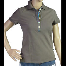 BODEN Womens Polo Shirt Taupe Short Sleeve Size 10 NWOT