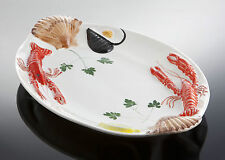 BASSANO große Fischplatte Servierplatte Ausgefallene italienische Keramik 48x30